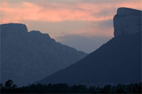 Pic-St-Loup at sunset