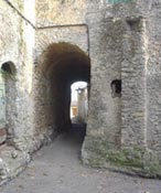 A stone passageway in St-Bresson